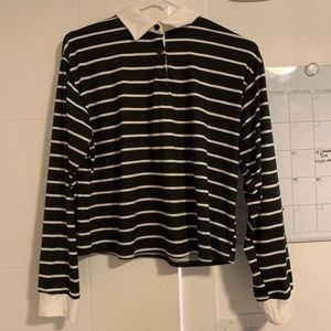 Tops - Striped collared shirt
